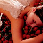 Strawberry massage pampering