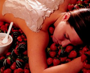 luscious strawberry massage pampring