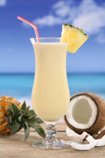 spa cocktails pina colada